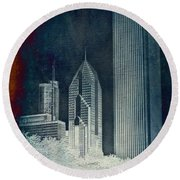 Chicago 4 Tall Shoulders Textured Round Beach Towel