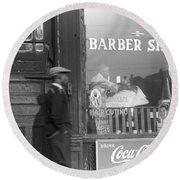 Chicago Barber Shop, 1941 Round Beach Towel