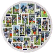 Chicago Bears Training Camp 2014 Collage Pa 01 Round Beach Towel