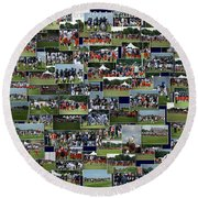 Chicago Bears Training Camp 2014 Collage The Players Round Beach Towel