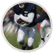 Chicago Bears Training Camp 2014 Moving The Ball 05 Round Beach Towel