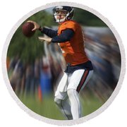 Chicago Bears Training Camp 2014 Moving The Ball 06 Round Beach Towel