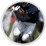 Chicago Bears Training Camp 2014 Moving The Ball 07 Round Beach Towel