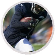 Chicago Bears Training Camp 2014 Moving The Ball 09 Round Beach Towel