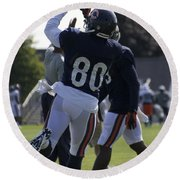 Chicago Bears Wr Armanti Edwards Training Camp 2014 04 Round Beach Towel