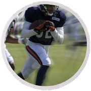 Chicago Bears Wr Chris Williams Moving The Ball Training Camp 2014 Round Beach Towel
