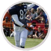 Chicago Bears Wr Chris Williams Training Camp 2014 04 Round Beach Towel