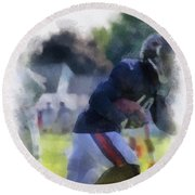 Chicago Bears Wr Micheal Spurlock Training Camp 2014 04 Pa 01 Round Beach Towel