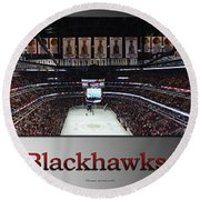 Chicago Blackhawks At Home Panorama Sb Round Beach Towel