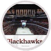 Chicago Blackhawks At Home Panorama White Round Beach Towel