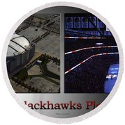 Chicago Blackhawks Please Stand 2 Panel Sb Round Beach Towel
