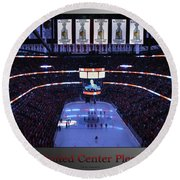 Chicago Blackhawks Please Stand Up With Red Text Sb Round Beach Towel