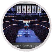Chicago Blackhawks Please Stand Up With White Text Sb Round Beach Towel