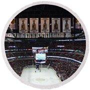 Chicago Blackhawks United Center Panorama 03 Round Beach Towel