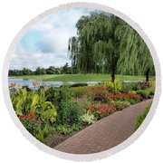 Chicago Botanical Gardens - 96 Round Beach Towel by Ely Arsha