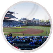 Chicago Cubs Pregame Time Panorama Round Beach Towel