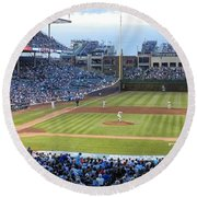 Chicago Cubs Up To Bat Round Beach Towel
