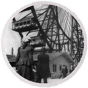 Chicago Ferris Wheel, C1893 Round Beach Towel