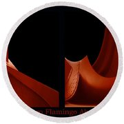 Chicago Flamingo Abstract 2 Panel 02 Round Beach Towel