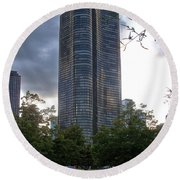 Chicago Lake Point Tower Round Beach Towel