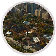Chicago Lincoln Park Zoo Round Beach Towel