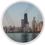 Chicago Morning Round Beach Towel