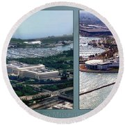 Chicago Museum Park 2 Panel Round Beach Towel