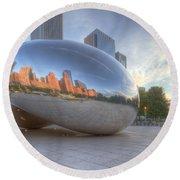 Chicago Reflection Round Beach Towel