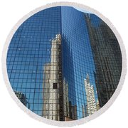 Chicago Reflections Round Beach Towel