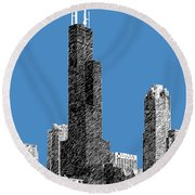 Chicago Sears Tower - Slate Round Beach Towel