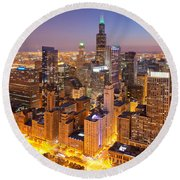 Chicago Southwest 2 Round Beach Towel