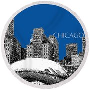 Chicago The Bean - Royal Blue Round Beach Towel