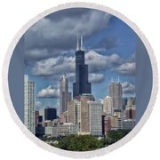 Chicago Willis Sears Tower Round Beach Towel