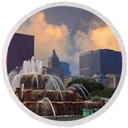 Chicago...my Kind Of Town Round Beach Towel
