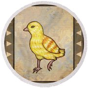 Chick Two Round Beach Towel