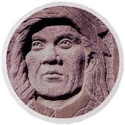 Chief-cochise-2 Round Beach Towel