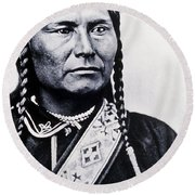 Chief Joseph Nez Perce Leader Round Beach Towel