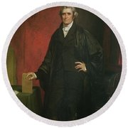 Chief Justice Marshall Round Beach Towel by Chester Harding