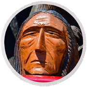 Chief Looking Round Beach Towel
