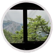 Chief Ouray Mine View Round Beach Towel