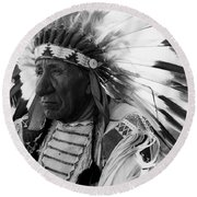 Chief Red Cloud Round Beach Towel by War Is Hell Store