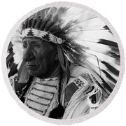Chief Red Cloud Round Beach Towel