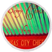 Chiefs Christmas Round Beach Towel