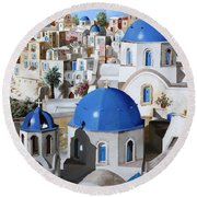 Chiese Ortodosse Round Beach Towel