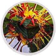 Chihuly Float Round Beach Towel
