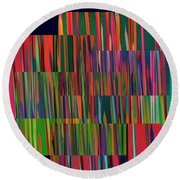 The Glass Forest Round Beach Towel