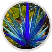 Chihuly Lily Pond Round Beach Towel