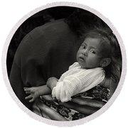 Child Of Chichicastenango Round Beach Towel