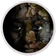 Child Of The Forest Round Beach Towel