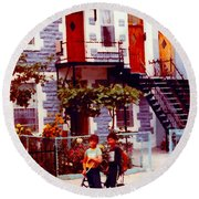 Childhood Montreal Memories Balconies And Bikes The Boys Of Summer Our Streets Tell Our Story Round Beach Towel